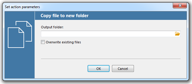 """Copy document to a folder"" action"
