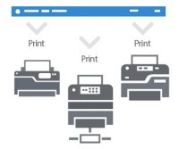 Auto print PDF Jpeg and other documents on several printers