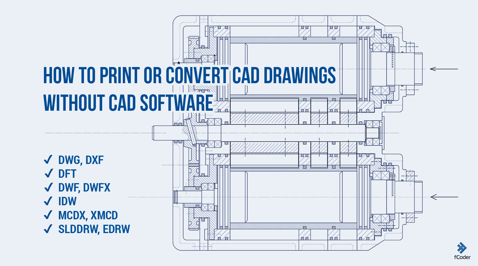 How to Print or Convert DWG files to PDF without AutoCAD with FolderMill