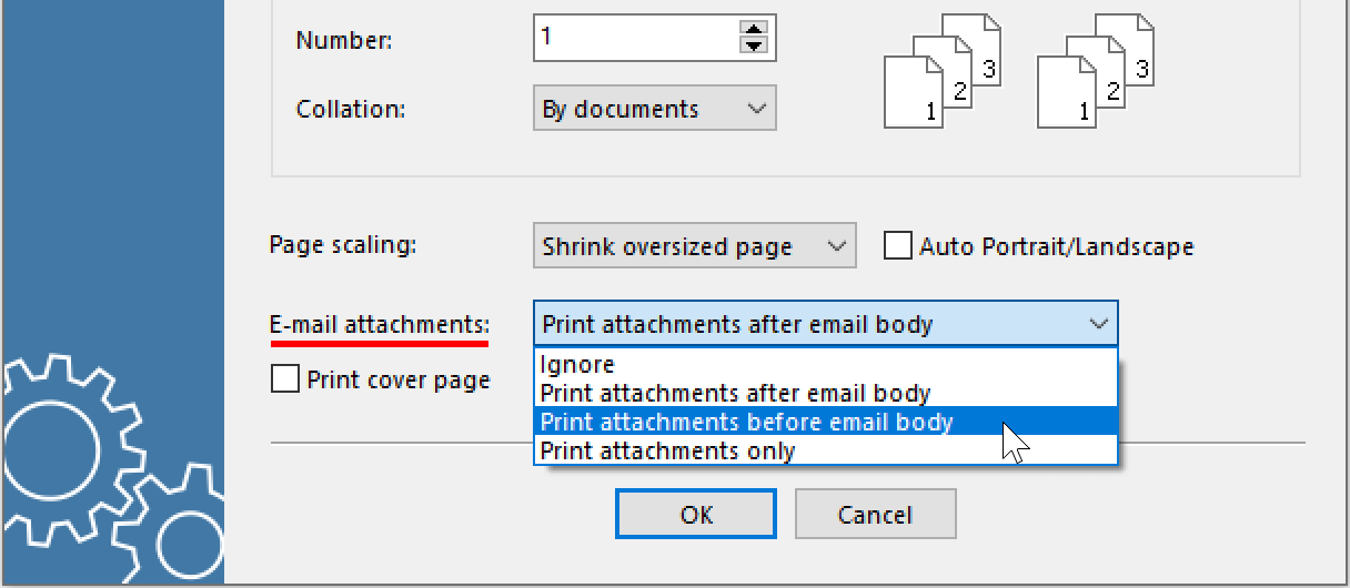New ways to print and convert emails and attachments